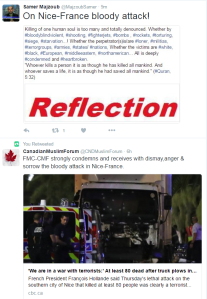 Tweet on Nice-bloody attack